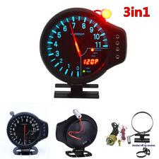 3 in 1 Car Meter Tachometer RPM Water Temp Oil Pressure Gauge Meter With Warning