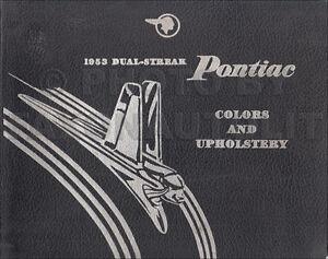 1953 Pontiac Color and Upholstery Dealer Album Catalina Chieftain Showroom Book