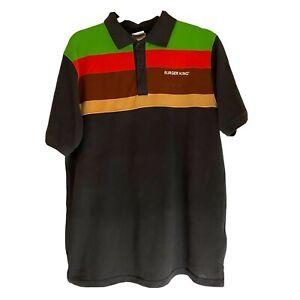 BURGER KING Retro Polo Shirt Unisex M Store Employee Work Uniform Vintage Style