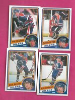 1984-85 OPC EDMONTON OILERS NRMT+/EX-MT CARD LOT INCL MESSIER (INV# D0422)