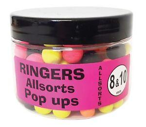 Ringers Allsorts Match Pop-Ups 8mm & 10mm 60g Carp Fishing Bait Hook Lures