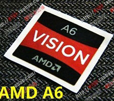 AMD A6 Vision Sticker 16.5 x 19.5mm APU A Series Case Badge USA Seller