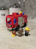 Fisher Price Little People Helping Others Fire Truck with Fireman & Fire Woman R