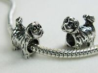 2 x Adorable Tibetan Silver Carousel Horse Dangle Charms for European Jewelry