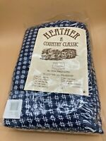 "Vintage Tobin Heather - A Country Classic 60"" x 104"" Rectangular Tablecloth"