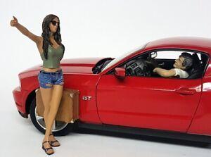 American Diorama 1/18 Scale Hichhiker Set 2 Figs Polyresin figure model display