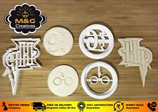 Harry Potter-Inspired cookie cutter fondant cupcake decoration 3 pieces 002