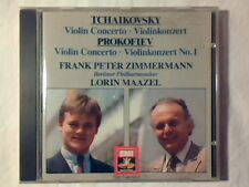 FRANK PETER ZIMMERMANN LORIN MAAZEL Tchaikovsky - Prokofiev violin concertos cd