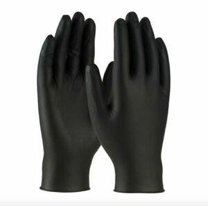 Nitrile Powder Free Disposable Commercial Gloves Color Black & Blue