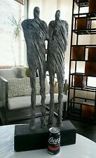 MID-CENTURY MODERN GIACOMETTI TYPE METAL SCULPTURE PAIR MEN - Gay Interest - 30""