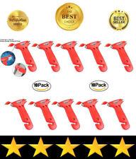 Car Window Breaker w/ Seatbelt Cutter, Compact Emergency Auto Blade Hammer 10pcs