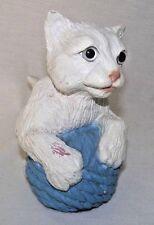 Cat Kitten White Yarn Decor Indoor Outdoor Vtg Eyes Universal Statuary Realistic