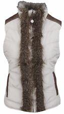 LA GAUCHITA by L' ARGENTINA Weste Waistcoat Bodywarmer Gr. M 38 Kunstfell Beige