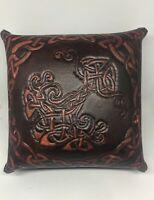 "Hand Crafted Leather Celtic Print Box 5"" X 5"" X 3"" Brazen@Nine Canadian Art"