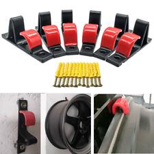 6pcs Tire Wheel Rim Hub Hook Wall Mount Shop Display Stand Rack+Expansion Screws