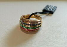 [New & Rare] Le Vian 18K Honey Gold Ruby, Emerald, Sapphire & Nude Diamond Ring