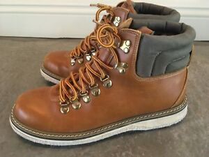 Simms Brown Leather Felt Bottom Wading Fishing Boots Size 11
