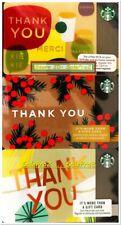 3x STARBUCKS 2010 2018 USA THANK YOU MERCI US RARE COLLECTIBLE GIFT CARD LOT