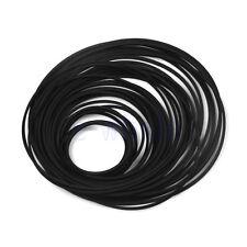 60PCS Universal Cassette Tape Machine Belts Flat Rubber Belt for CD DVD Drive TW
