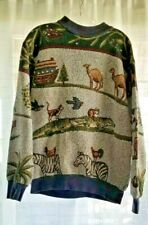 Vintage 1970s Sweater/Sweatshirt Noah's Ark Long Sleeve Crew Neck Adult Unisex