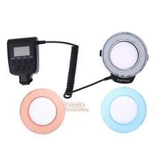 Adjustment 48 LED Ring Flash Light Lamp For Canon Nikon RF-550D Pentax Camera