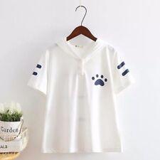 Brand New Korean Style Cartoon Cat Kitty Hoodie Blouse Shirt Top XS