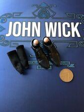 Hot Toys John Wick capítulo 2 MMS504 Negro Zapatos y Calcetines Suelto Escala 1/6th