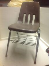 """Vintage Virco Martest 30.5"""" Student Chair With Book Rack Underneath Very Cool"""