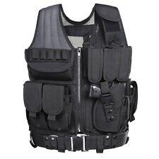 Tactical Vest Holster Accessories Black Assault Gear Swat Paintball Airsoft NEW