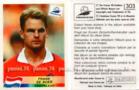 "RARE !! Sticker F. DE BOER n°303 ""WORLD CUP FRANCE 98"" Panini 1998"