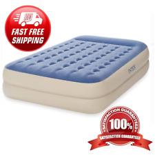 Queen Air Mattress 18 Inch Raised Pillow Aerobed Intex Dura Beam Inflatable Bed