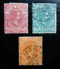 ITALY 1884 SGP40-42 Fine/Used NB3617