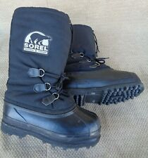 SOREL Kaufman Canada GLACIER Snow Winter Boots A+ NICE Insulated Black Women's 8