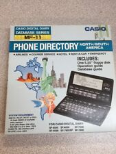 Casio MF-11 Digital Diary DataBase Serie PHONE DIRECTORY North/South America NEW
