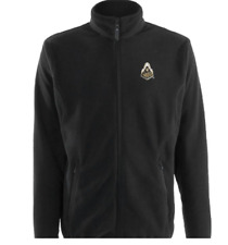 NEW Antigua Men's Purdue Boilermakers Ice Polar Fleece Jacket – Black - Large
