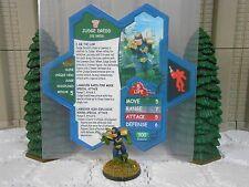 Heroscape Custom Judge Dredd Double Sided Card and Figure w/ Sleeve 2000 AD
