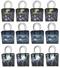 12PCS Batman vs Superman Goodie Party Favor Gift Birthday Loot Bags Licensed NEW