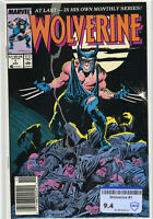 Wolverine #1 (1988) | CBCS RAW 9.4 NM | Newsstand | 1st Appearance as Patch RARE