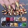 Nagel Pailletten Aluminium unregelmäßige Flocken Nail Art Spiegel Glitter Folie