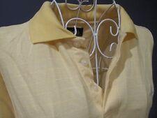 Ashworth Women Unisex Yellow Polo Shirt Top Short Sleeve Collared Size L 12