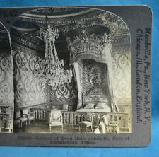 Stereoview Photo France Fontainebleau Bedroom Of Queen Marie Antoinette Keystone
