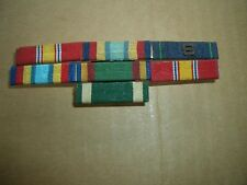 7 Vintage U.S. Military Stripes Bars hooked together & S insignia on one-RARE!