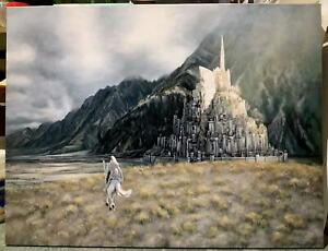 Gandalf Lord of the Rings 30x20 oil painting Minas Tirith Aragorn Gondor Sauron