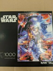 Buffalo Games Star Wars 1000 Piece Puzzle First Trilogy NEW Luke Vader Leia Yoda