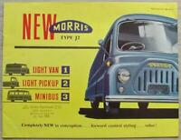 MORRIS J2 LIGHT VAN, LIGHT PICK UP & MINIBUS Sales Brochure March 1958 #H.5821