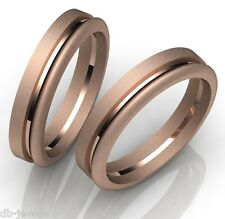 Pair of Wedding bands 14k SELECT YELLOW or  WHITE or ROSE GOLD