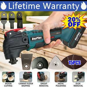 Electric Cordless Oscillating Multi Tool Saw Blade Sanding Battery Accessories