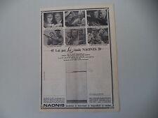 advertising Pubblicità 1966 FRIGORIFERO NAONIS MOD. 200 LITRI DELUXE