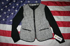 NYGARD COLLECTION Black/White Blazer Jacket Sz Small: coat/dressy/sweater #1587