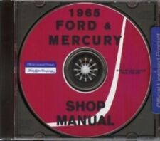 FORD 1965 Custom, Galaxie, LTD & Mercury Monterey & Montclair Shop Manual CD '65